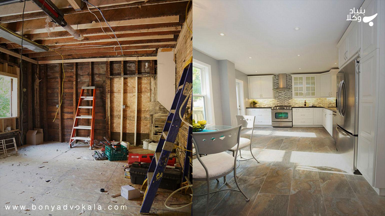 بازسازی ساختمان بدون رضایت برخی از مالکان