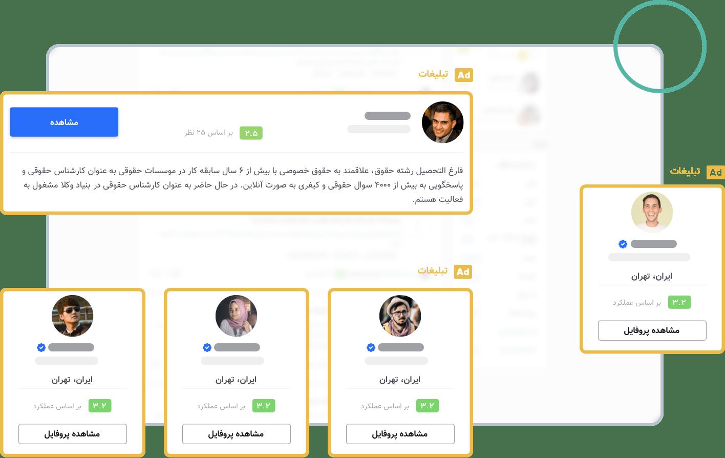 جایگاههای صفحه پرسش و پاسخ