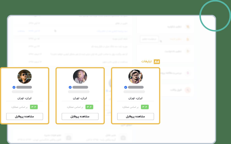 جایگاههای صفحه پروفایل